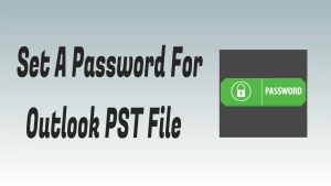 Password for Outlook PST file