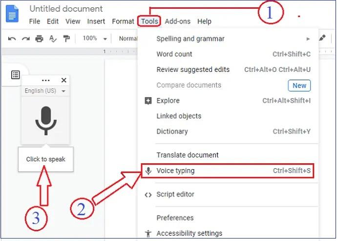 Google Docs-Activating-Speech-to-text-Conversion