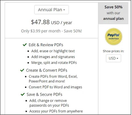 PDF Pro-PDF-Signature-Site-Pricing and Plans