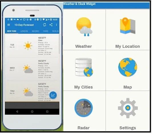 Weather & Clock Widget-App-page-which-is-the-best-weather-app-for-Android