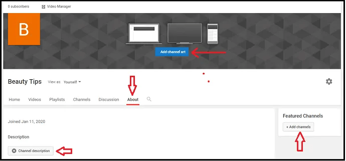 Customizing-YouTube Brand Account Name- Channel
