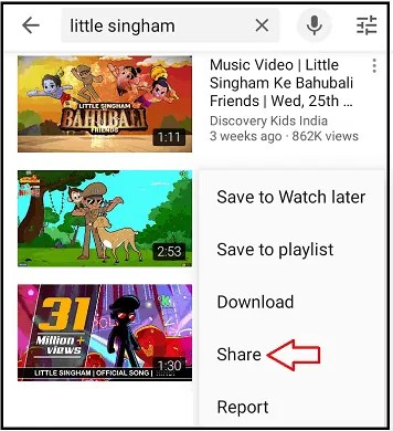 Share Option-in-YouTube-App