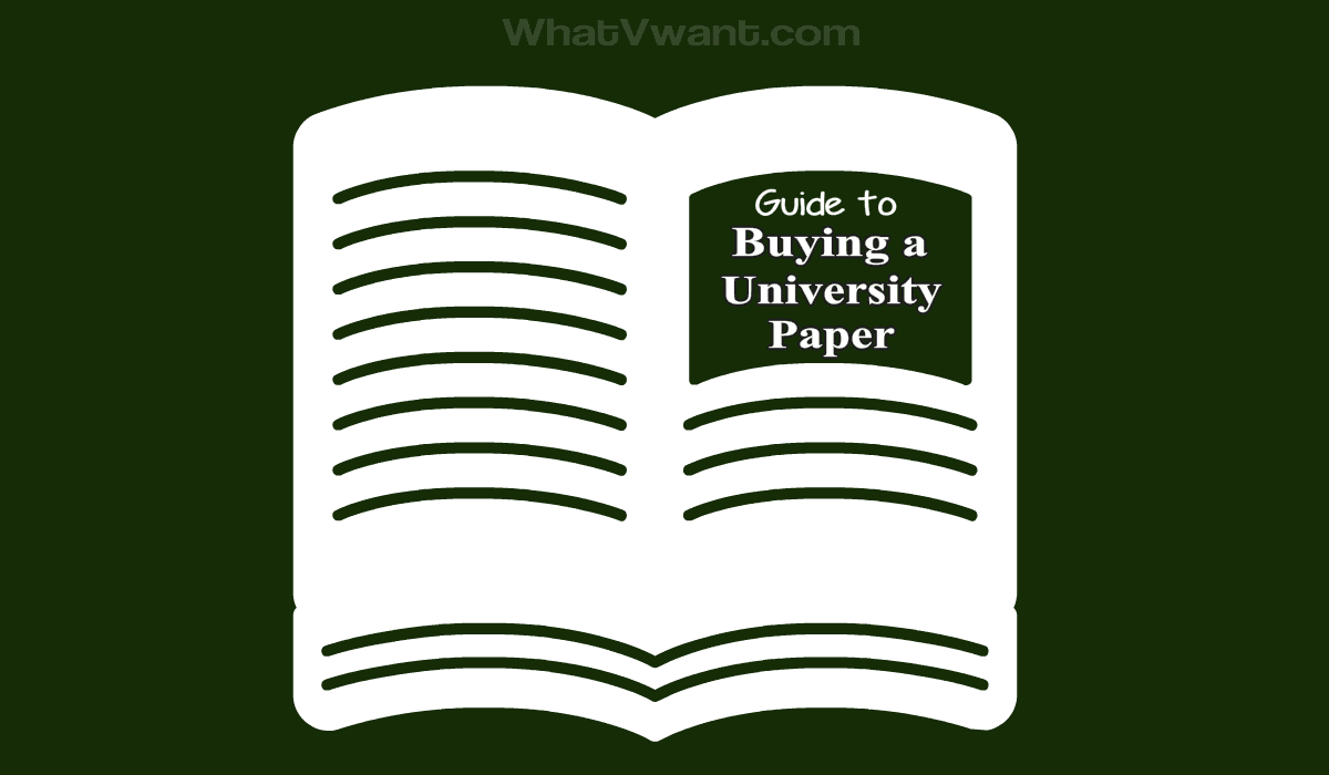 Buying a university paper