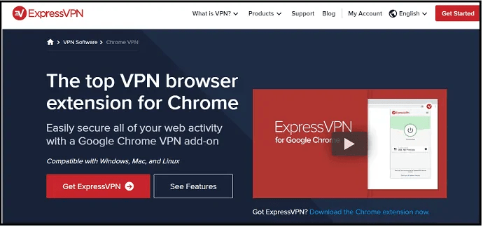 ExpressVPN-chrome-extension-official-webpage