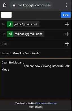 Gmail-Composing-an-email-in-dark-mode
