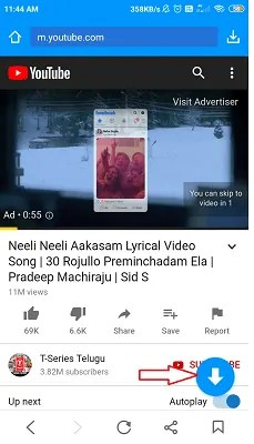 download YouTube video to phone