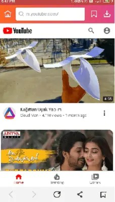 YouTube accessed within the InsTube app.