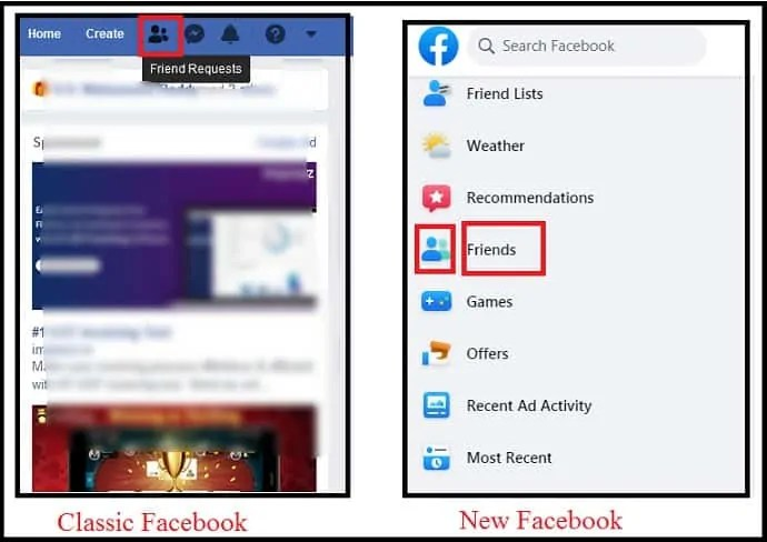 Friend Requests-button-removed-in-NewFacebook-And-added-Friends-option