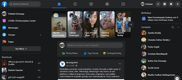 New Facebook-with-Dark Mode-feature