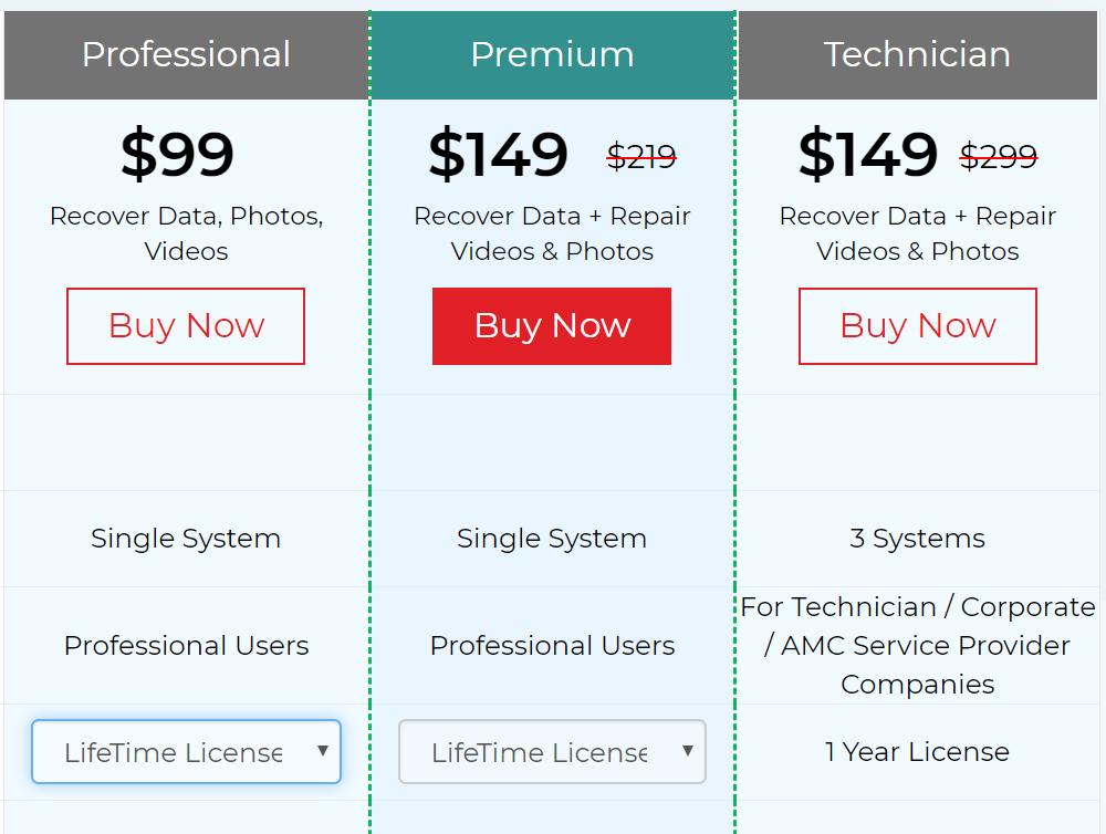 Stellar Mac data recovery pricing