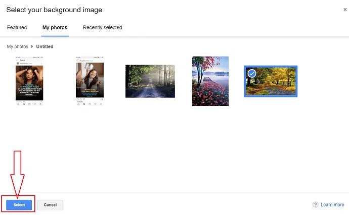 select desired image.