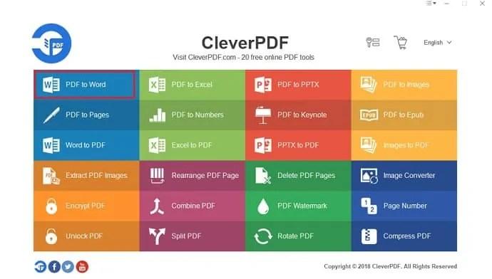 Tap on PDF to word.
