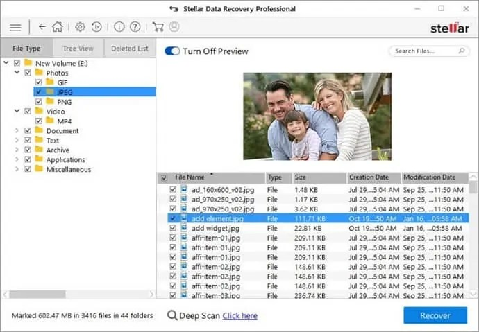 stellar windows data recovery preview