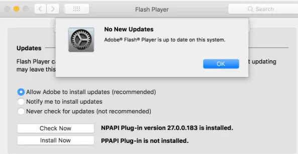 update adobe flash player on mac