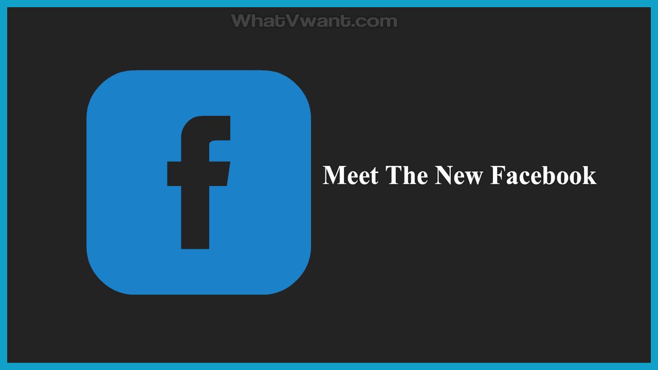 Meet the new Facebook