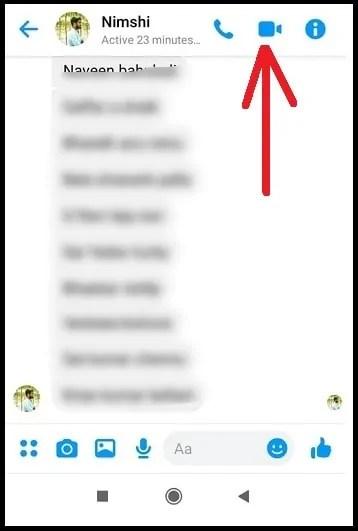Video-Call-button-in-Messenger-App