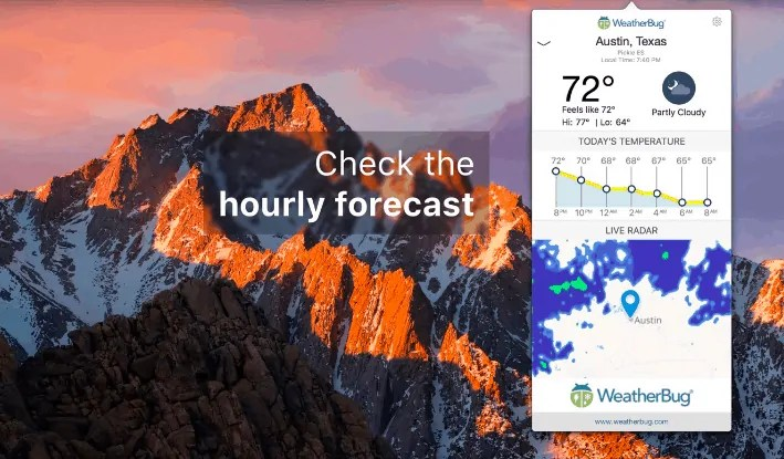 weatherbug-best weather apps for mac