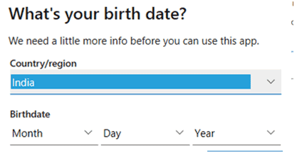 date of birth details
