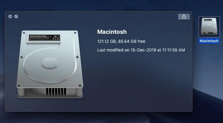 disk information
