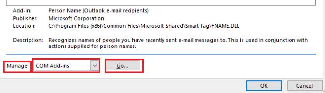 manage com add-ins