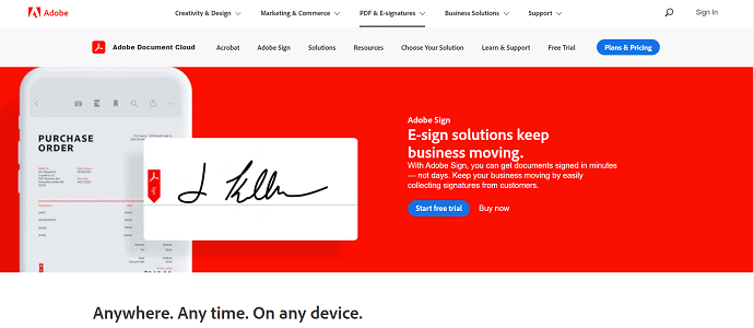Adobesign-One of the software from the Adobe family.