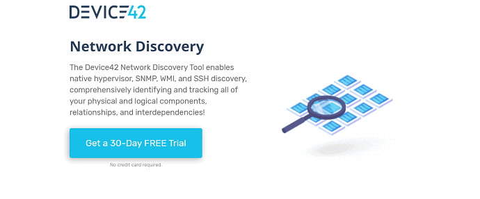 DEVICE42- best network discovery tool for agentless and continuous discovery.