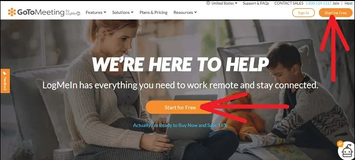 GoToMeeting-website-Start-for-free-button-to-create-GoToMeeting-free-account