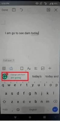 Checking grammarly
