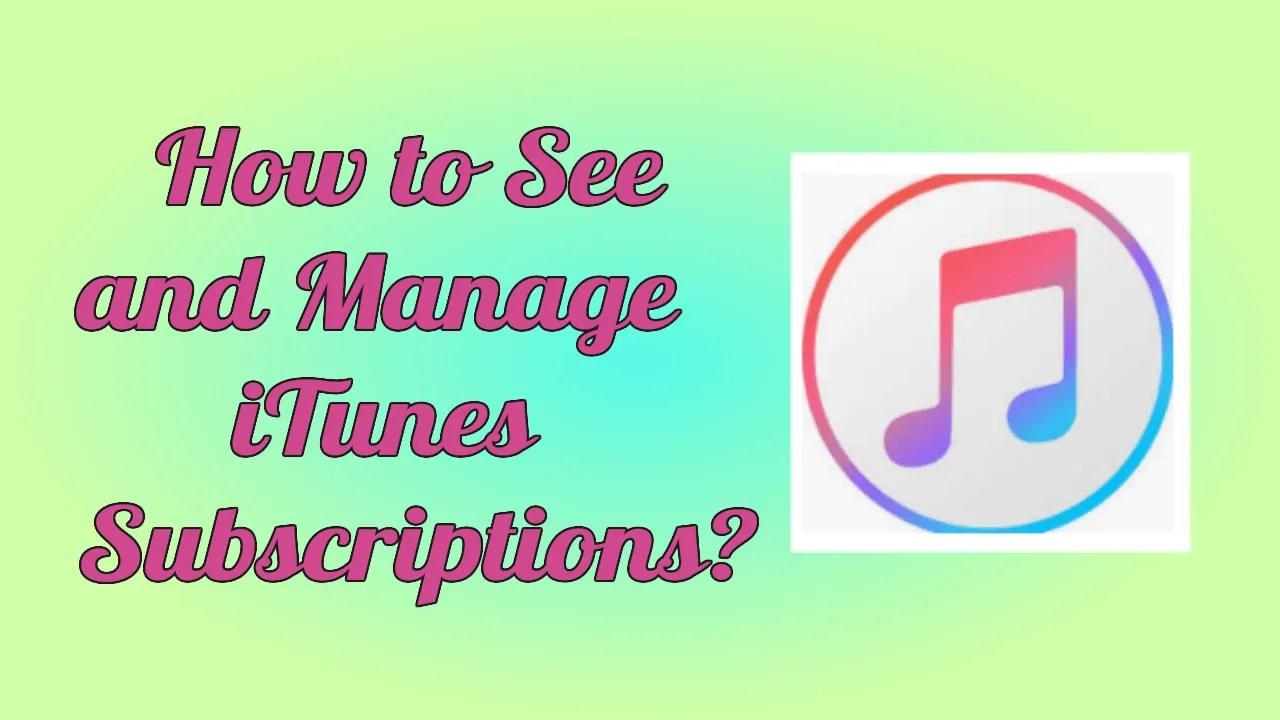 iTunes Subscriptions