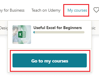 my courses option