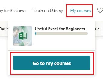 my courses option