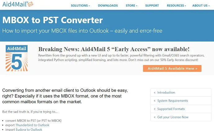 Aid4Mail MBOX to PST Converter