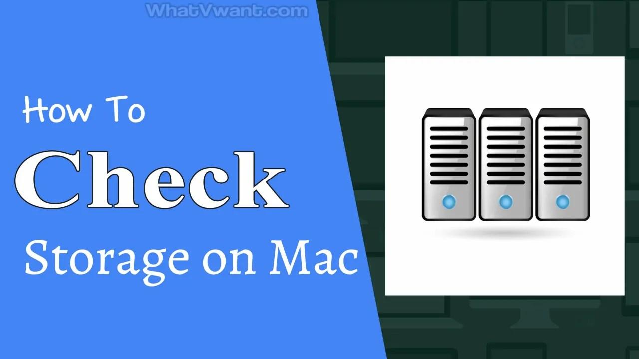 Check the storage on Mac