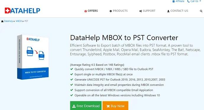 Datahelp MBOX to PST Converter