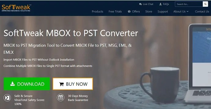 Softweak Mbox to PST converter tool
