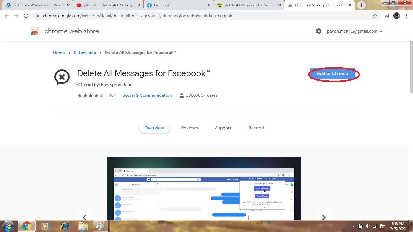 4 Ways To Delete Facebook Messages at Once 7