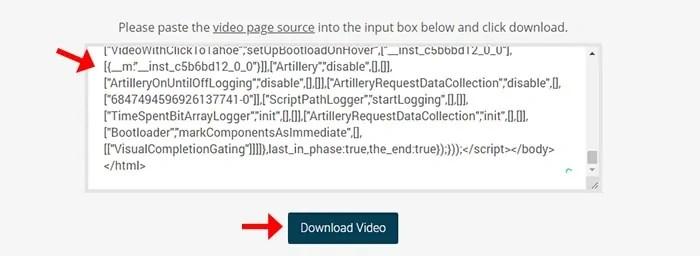 Facebook video source code
