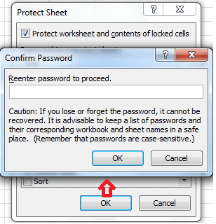 How to Password protect Excel file 3