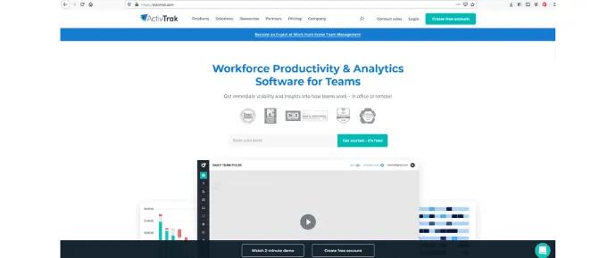 ActivTrak- Best Web-based Employee Time Tracking Software