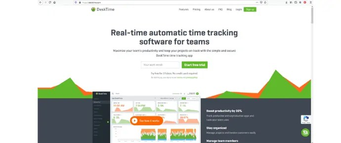 Desktime employee tracking software