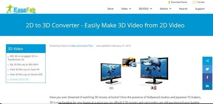 Easefab 2D to 3D Converter