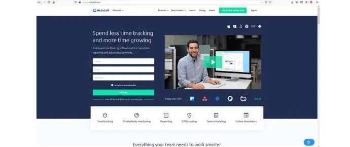 Hubstaff employee time tracking software