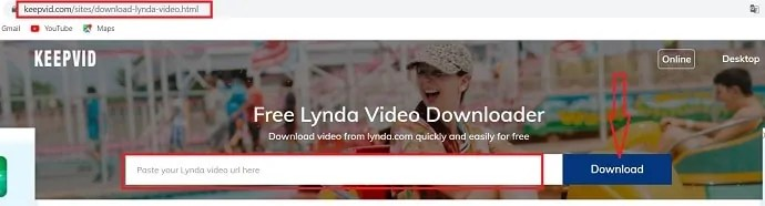 KEEPVID- free Lynda video downloader.