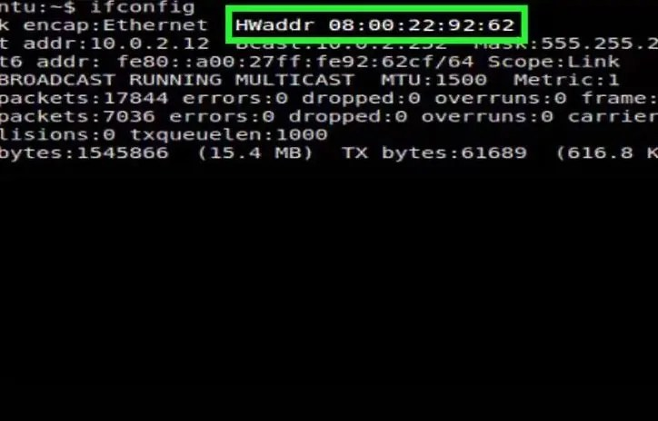 MAC address using Linux3