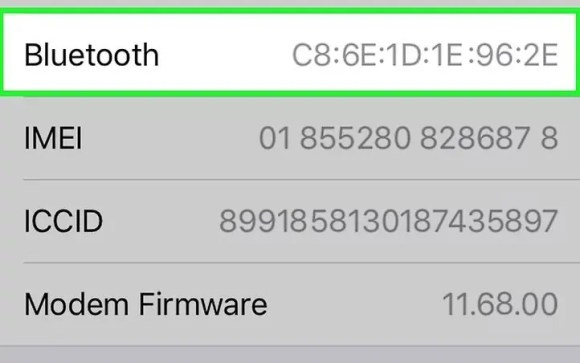 MAC address using iOS3