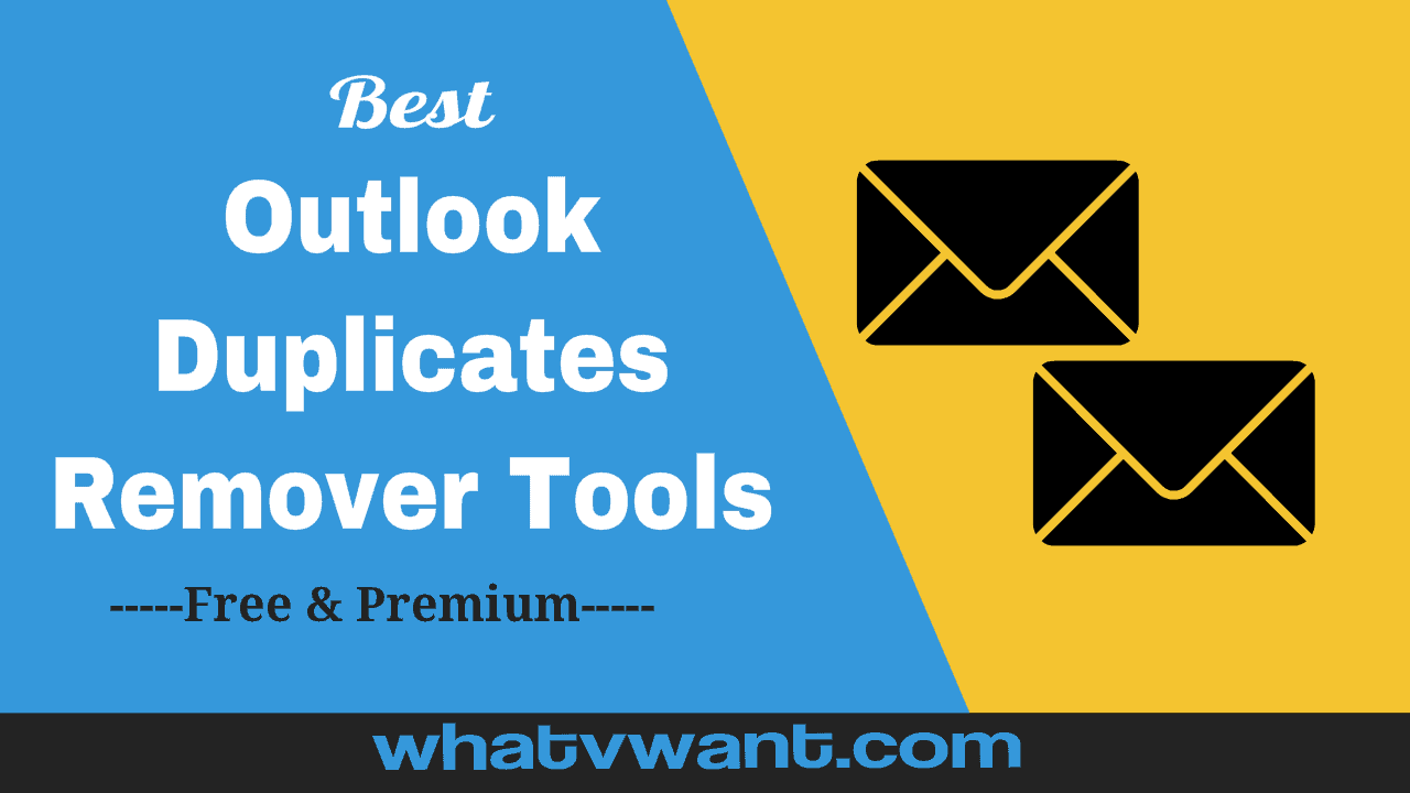 Outlook duplicate remover tools