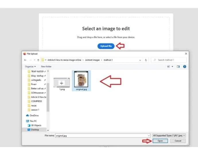 Step 2 Upload file