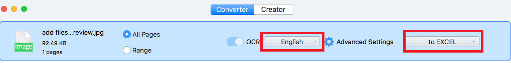Convert image to excel using cisdem pdf converter ocr mac