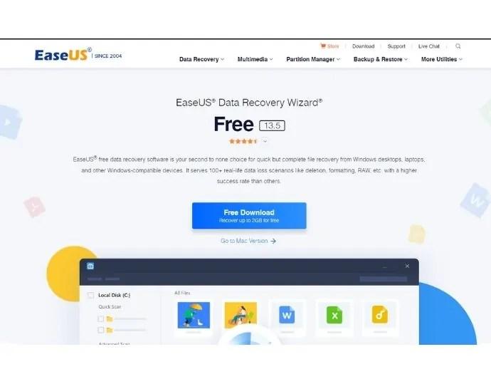 EaseUS free recovery tool