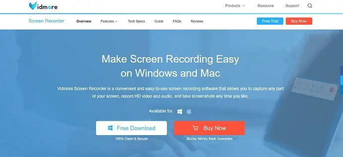 Vidmore screen recorder.